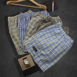 [Combo 2] quần đùi nam loại caro nhỏ vải mềm mịn free size dưới 65kg [Free ship]