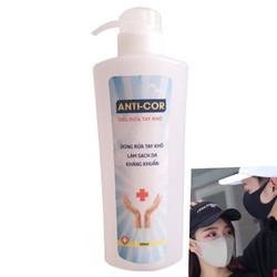 ( Tặng 10 khẩu trang vải poly) - Nước rửa tay khô- Gel rửa tay sát khuẩn, diệt vi trùng Anti - Cor 300ml có giấy kiểm nghiệm tiên lội, an toàn