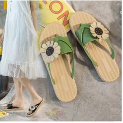 Dép Nữ Quai Ngang 3 màu dạng đan hình hoa ở Quai Hot trend teen mẫu mới nhất 2020