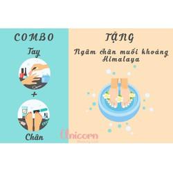 Combo Nail Tay + Chân + Ngâm muối Himalaya thải độc