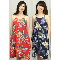 Đầm suông vải đũi tơ 40-63kg thiếT kế cao cấp