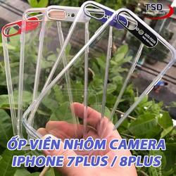 Ốp Lưng iPhone 7 Plus - 8 Plus Viền Nhôm Bảo Vệ Camera Siêu Đẹp