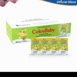 Tặng 1 bộ 3 hộp nhựa - Thùng 48 hộp sữa bột pha sẵn Colosbaby 110ml