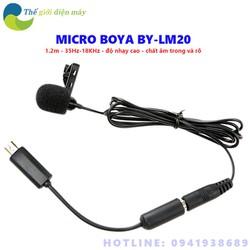 Micro Cài Áo Boya BY-LM20 - Bảo hành 6 tháng - Shop Thế Giới Điện Máy