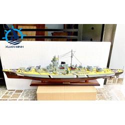 Mô hình Tàu Chiến Hạm KMS BISMARCK, Gỗ tự nhiên - Thân 100cm