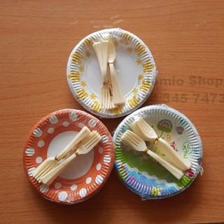 Đĩa Giấy Nhỏ Bánh Kem 13cm Có Nĩa -10 Cái - ĐG13N thumbnail
