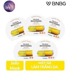Combo 5 Mặt nạ giấy dưỡng da trắng sáng và làm đều màu da BNBG Vita Genic Whitening Jelly Mask (Vitamin C) 30ml x 5