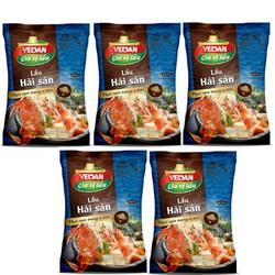 Gia vị lẩu hải sản Vedan 60g (Lốc 5 gói)-HSD 12 tháng_Chính hãng-Giá tốt