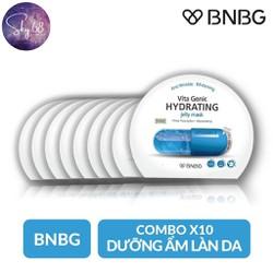 Hộp 10 Mặt nạ giấy cấp nước dưỡng ẩm da mềm mượt, căng bóng BNBG Vita Genic Hydrating Jelly Mask (Vitamin E) 30ml x 10
