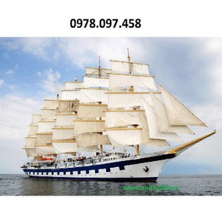 Thuyền buồm - tranh gạch - F6777 thumbnail