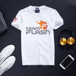 Áo Free Fire cổ tròn cotton màu trắng đội tuyển Team Flash