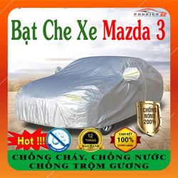 Bạt phủ ô tô Mazda 3 CAO CẤP Cách Nhiệt, Bạt che ô tô Mazda 3, Bạt phủ xe ô tô Mazda 3