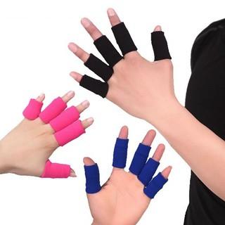 Dụng cụ bảo vệ ngón tay 10 chiếc- Băng Đàn Hồi Bảo Vệ Ngón Tay, nhiều màu, giao màu ngẫu nhiên+ Tặng kèm hình dán - ST6018 thumbnail