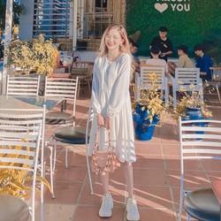 Váy trắng Baby Doll  Giảm 20k khi nhập Đầm Baby Doll Chất Đũi Trắng Bánh Bèo Xinh Xắn
