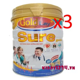 3 lon Sữa Goldlay Sure Gold dinh dưỡng đặc biệt dành cho người cần phục hồi sức khỏe và sau phẫu thuật - 3-gold-lay-sure-gold-ddđb