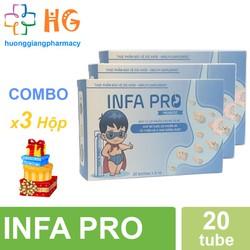 Combo 3H Bào tử lợi khuẩn INFA PRO - Men vi sinh thế hệ mới cho trẻ biếng ăn, táo bón, chậm lớn