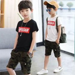 Set bộ quần áo trẻ em mẫu UP dành cho bé trai 6-10 tuổi. Thiết kế đẹp, chất vải tốt.