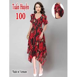 ĐẦM VOAN HOA TRẺ TRUNG H100