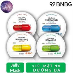 Combo Mix 10 Mặt nạ giấy dưỡng da BNBG Vita Genic Jelly Mask 30ml x 10 (Lifting, Whitening, Relaxing, Hydrating)