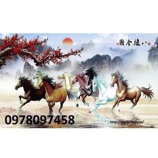 Tranh gạch - tranh ngựa trang trí phòng - K98H thumbnail