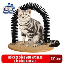 Đồ chơi cổng vòm massage tự động lấy lông chết cho mèo Kún Miu