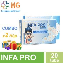 Combo 2H Bào tử lợi khuẩn INFA PRO - Men vi sinh thế hệ mới cho trẻ biếng ăn, táo bón, chậm lớn
