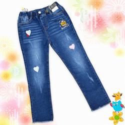 Quần jean dài thêu cho bé gái size đại