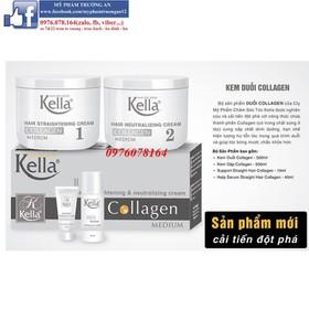 KELLA Thuốc duỗi tóc Kella Collagen 500mlx2 - KELLACOLAGEN