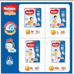 Tã quần và dán Huggies Cực Đại M74-L68-XL62-XXL56