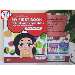 My First Book Of Fruits And Vegetables   Cuốn Sách Đầu Tiên Cho Bé Chủ Đề Rau Củ Quả