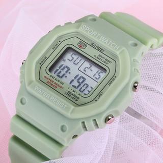 Đồng hồ điện tử - Đồng Hồ Thể Thao Nam Nữ Sanosi Điện Tử Cực Đẹp màu xanh matcha - VT1278 thumbnail