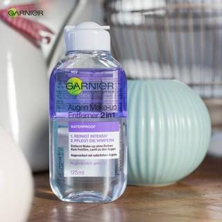 Nước Tẩy Trang Mắt Môi Garnier Augen Make Up Entferner 2in1, 125 ml - Hàng nhập Đức - Garnier Augen thumbnail