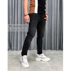 Quần Jeans Nam Pull&Bear Slim Fit Rách Authentic