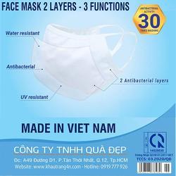 Combo 10 khẩu trang vải kháng khuẩn chống nước chống UV