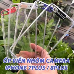 Ốp Lưng iPhone 7Plus - 8 Plus Viền Nhôm Bảo Vệ Camera Siêu Đẹp