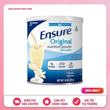 Combo 2 Sữa Ensure Original Xách Tay sua bot ensure xuất xứ Mỹ 397gr date 11.2021
