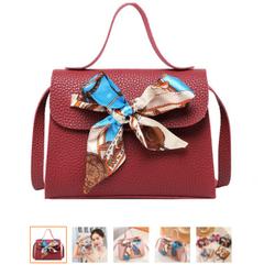 [ Trợ phí Vận chuyển 10K] Túi đeo nữ da Pu hình nơ 5 màu Hot trend