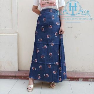 Váy chống nắng Jean Bông vải Mềm cho Nữ H&T Fashion - HTVCN024 thumbnail