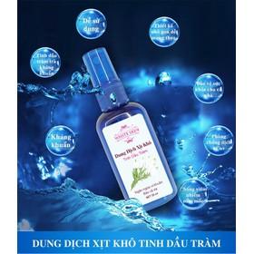 [ Phòng Dịch Corona] Nước rửa tay khô- Dung dịch xịt khô kháng khuẩn tinh dầu tràm ROSE BEAUTY WHITE SKIN Chai 55 ml - XK-002