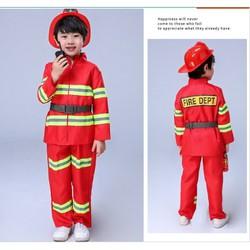 Trang phục lính cứu hỏa cho bé (không bao gồm mũ)