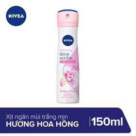 Xịt Ngăn Mùi Nivea Whitening Deep Serum Hokkaido Rose Spray 150ml_85304 - 8850029029870