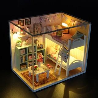 Nhà búp bê lắp ghép - Mô hình nhà búp bê cho bé+ Tặng kèm hình dán - ST5527 thumbnail