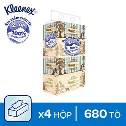 Combo 4 Giấy hộp Kleenex VINTAGE 170 tờ x 2 lớp