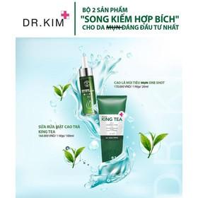 KEM TRỊ MỤN MOCHA - COMBO Serum Mụn Và Sữa Rửa Mặt Giảm Mụn Dr.Kim - Shido Japan - COMBO SP TRỊ MỤN DR KIM