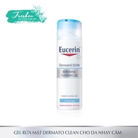 Gel rửa mặt cho da nhạy cảm Eucerin Dermato Clean Refreshing Cleansing Gel 200ml - gel rửa mặt eucerin