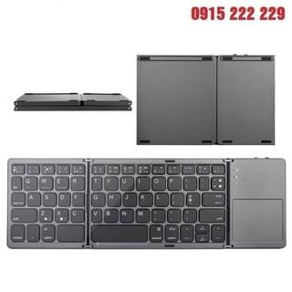 Bàn Phím Không Dây Mini Gấp Gọn Bluetooth Tích Hợp Touchpad B033 - Bàn phím Bluetooth gấp gọn B033 cho điện thoại, máy tính bảng, laptop - B033 thumbnail