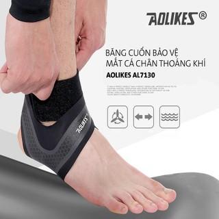 Bảo vệ mắt cá chân - Băng cuốn cổ chân - Băng quấn mắt các chân tập gym Aolikes AL7130 (1 đôi) - Băng Cuốn Bảo Vệ Mắt Cá Chân Aolikes AL7130 thumbnail