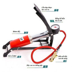 [GIẢM 30k PHÍ VC]Bơm hơi  mini đạp chân bơm xe máy xe đạp các vật dụng khác tiện lợi