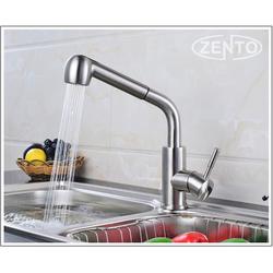 Vòi rửa chén nóng lạnh rút dây 2 chế độ nước inox SUS 304 cao cấp -
