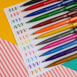 Combo Bộ 12 bút lông Pentel Fude Touch Brush Sign Pen - 12 màu